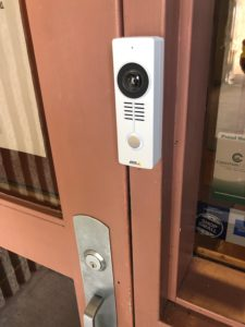 AXIS Network Door Station installed at a facility in Hopkinsville, KY.